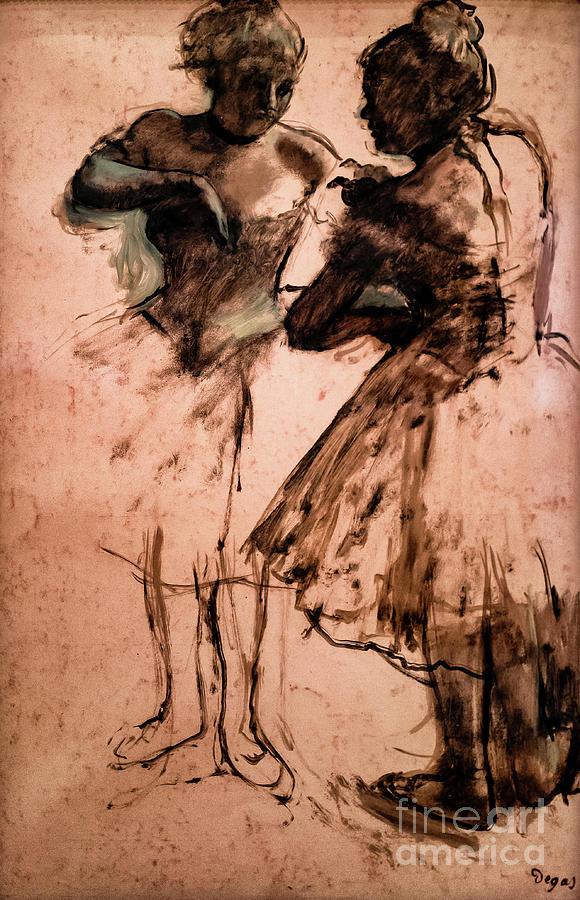 Two Dancers 1873 by Degas by Edgar Degas