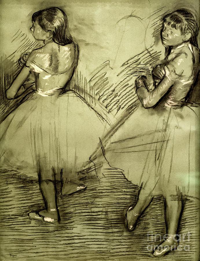 Two Dancers 1879 by Degas by Edgar Degas