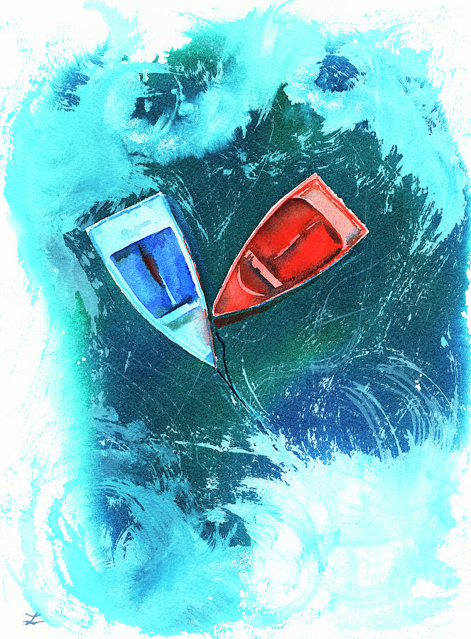 Two Dinghy Boats Painting