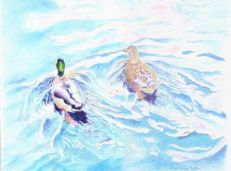 Duet Drawing - Duet by Susan Camp Hilton