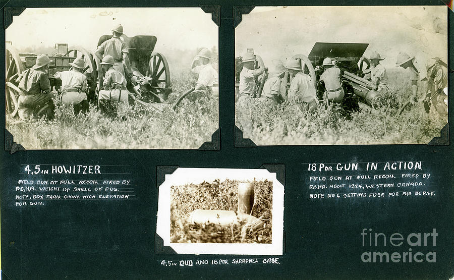 Two Field Artillery Pieces - Royal Canadian Horse Artillery Photograph