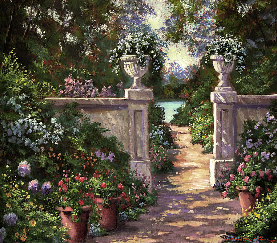 Two Garden Urns Painting