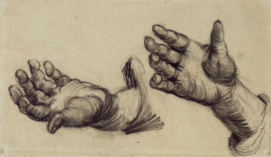 Two Hands Nuenen December 1884  May 1885 Vincent Van Gogh 1853  1890 Painting