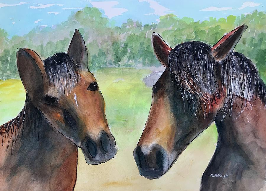 Horses Painting - Two Horses by Marita McVeigh