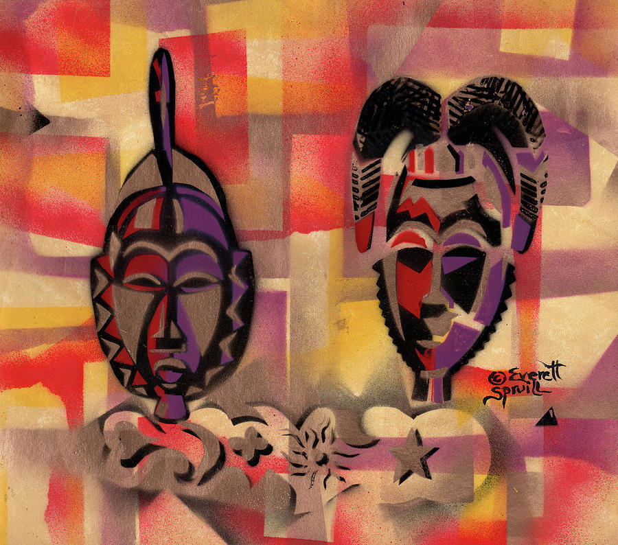 Two Baule Masks - Beta by Everett Spruill