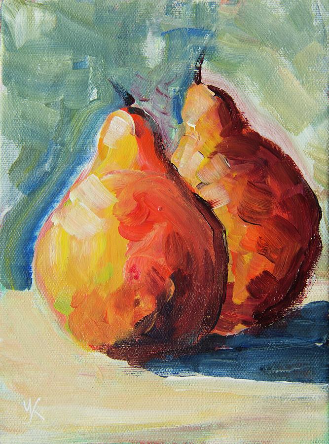 Two Orange Pears by Yulia Kazansky