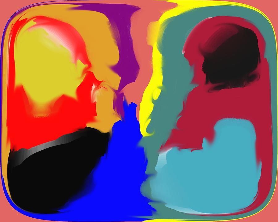 Abstract Digital Art - Two Peas in a Pod by Pharris Art