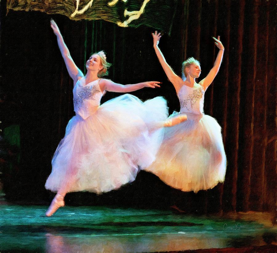 Two Snow Ballerinas by Craig J Satterlee