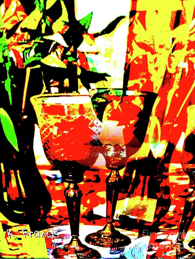 Floral Digital Art - Two Stronger Than One by Karen Francis