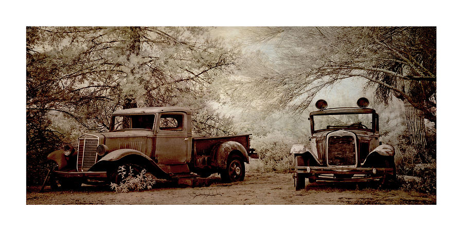 Two Vintage Vehicles Photograph