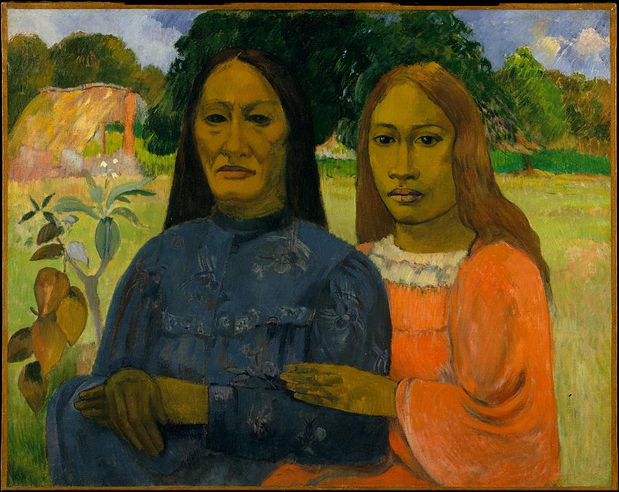 Two Women  Paul Gauguin Painting