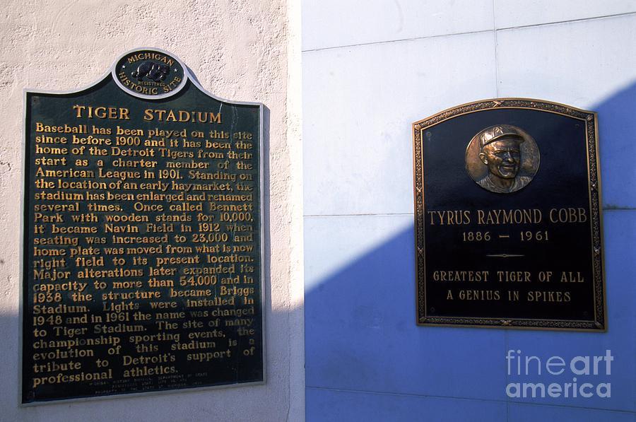 Ty Cobb Photograph by Ezra Shaw