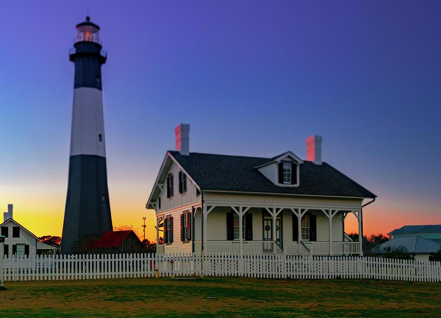 Tybee Lighthouse Sunset Photograph