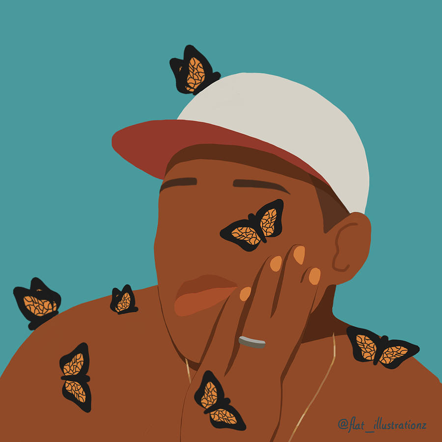 Flat Card Face Hat Celebrity Mask Tyler The Creator