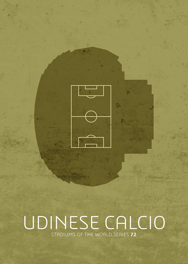 Udinese Mixed Media - Udinese Calcio Stadium Football Soccer Series by Design Turnpike