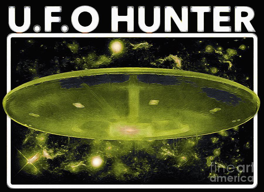 Ufo Hunters Digital Art - U.F.O HUNTER Green Design by Douglas Brown