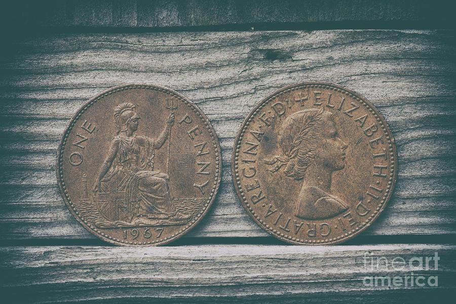 Uk Bronze Penny Photograph