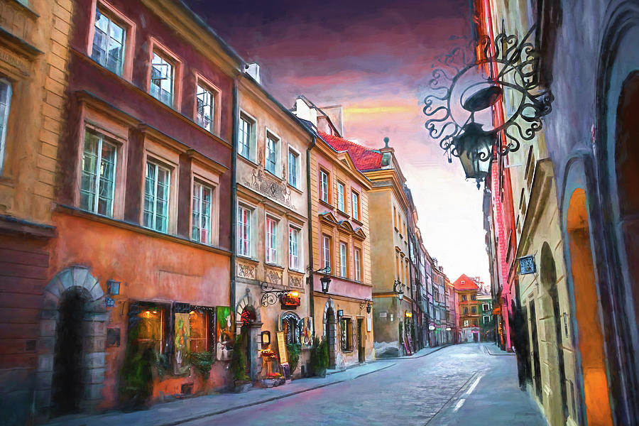 Ulica Piwna Warsaw Old Town Photograph