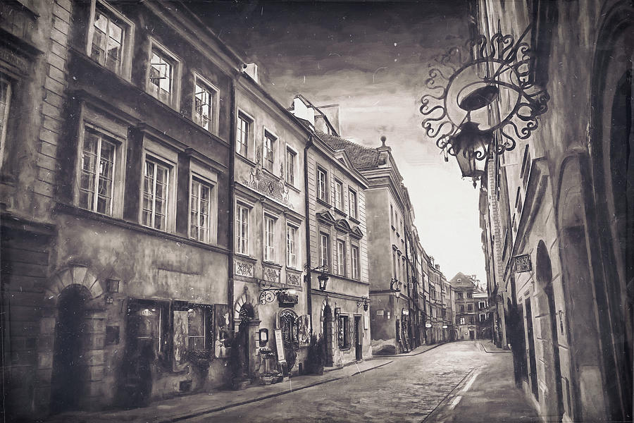 Ulica Piwna Warsaw Old Town Vintage Photograph