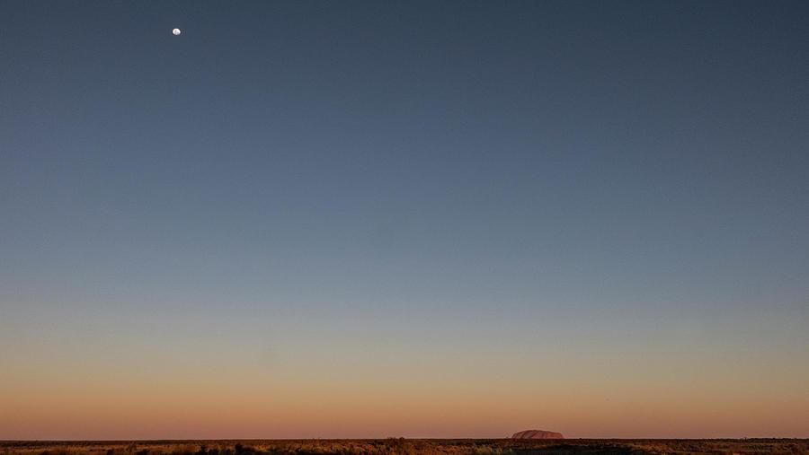 Uluru Photograph - Uluru Moonrise  by Leigh Henningham