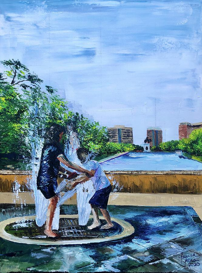 Fountain Painting - UnADULTurated Fun by Lauren Luna