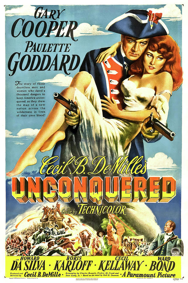 unconquered, With Gary Cooper And Paulette Goddard, 1947 Mixed Media
