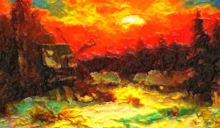 Under A Fiery Sky Digital Art