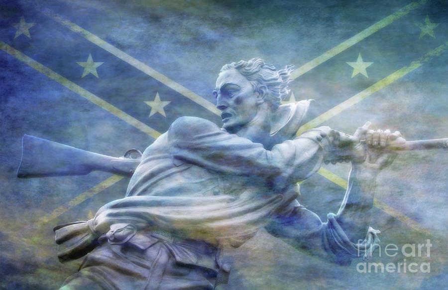 Under The Rebel Flag Digital Art