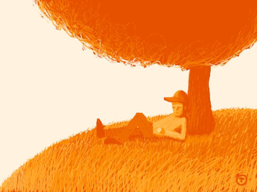 Under the tree by Thomas Olsen