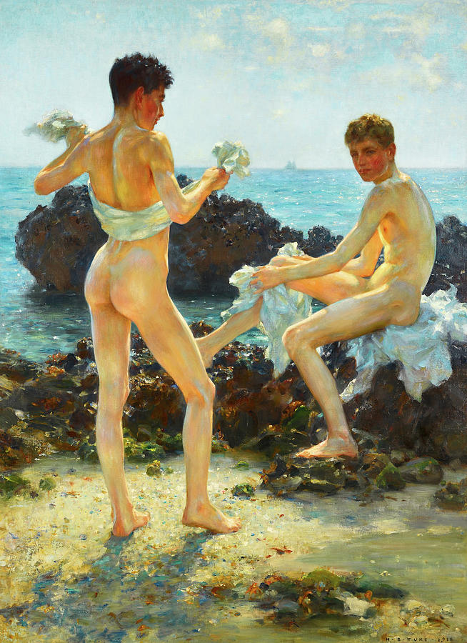 Impressionism Painting - Under The Western Sun by H Tuke