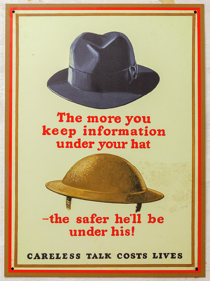 Ww2 Photograph - Under your hat by Steev Stamford