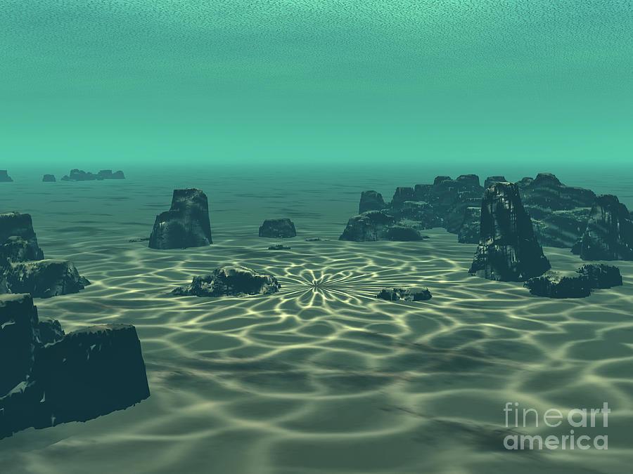Atlantis Digital Art - Underwater by Phil Perkins