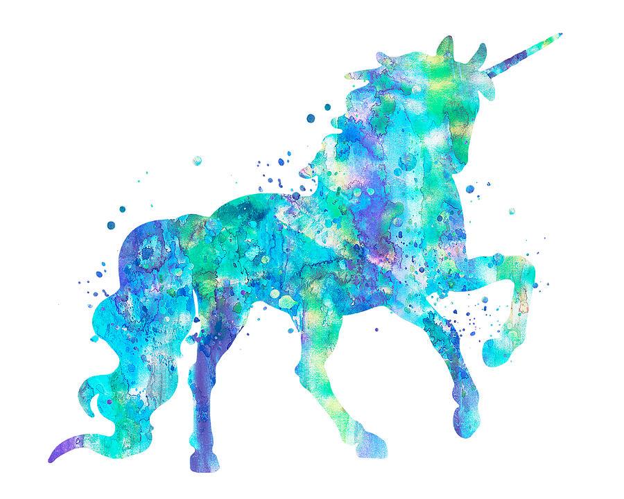 Unicorn Painting - Unicorn Art by Zuzi s