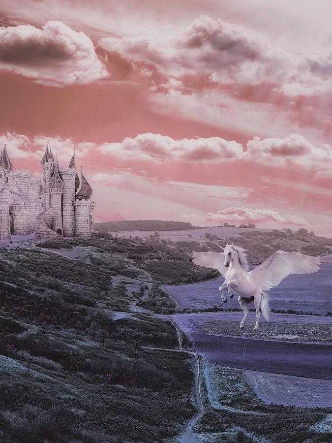 Unicorn Kingdom Fantasy Colors Mixed Media
