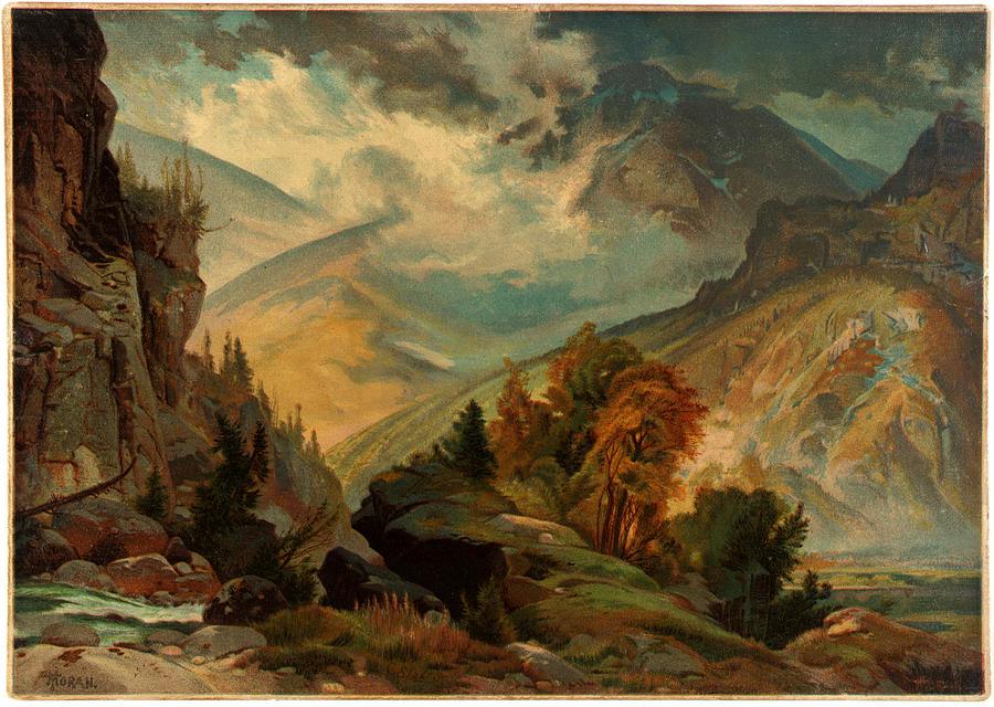 Unidentified Thomas Moran The White Mountains 1874 Painting