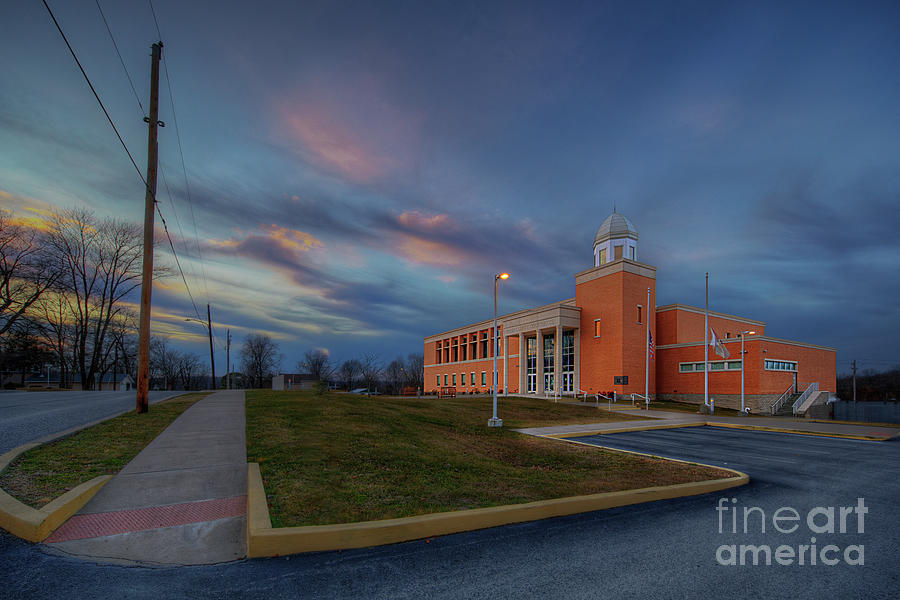 Hdr Photograph - Union County Illinois Courthouse II by Larry Braun