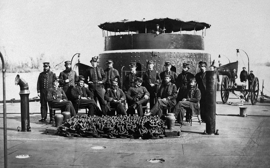 Union Officers On Deck Of Monitor - Civil War by War Is Hell Store