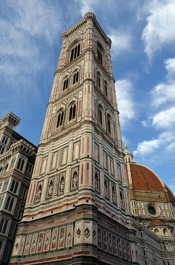 Unique Perspective on Giotto's Campanile Bell Tower Florence Italy by Shawn O'Brien