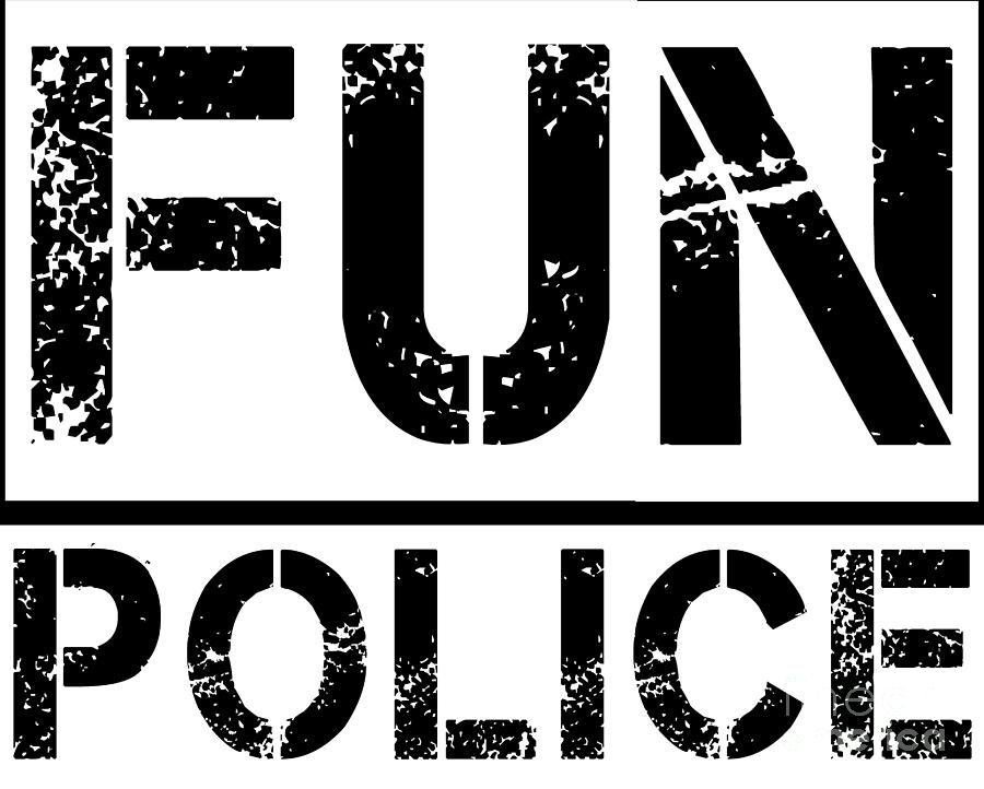 Unisex Fun Police Classic Funny Satire Gift Digital Art By Haselshirt