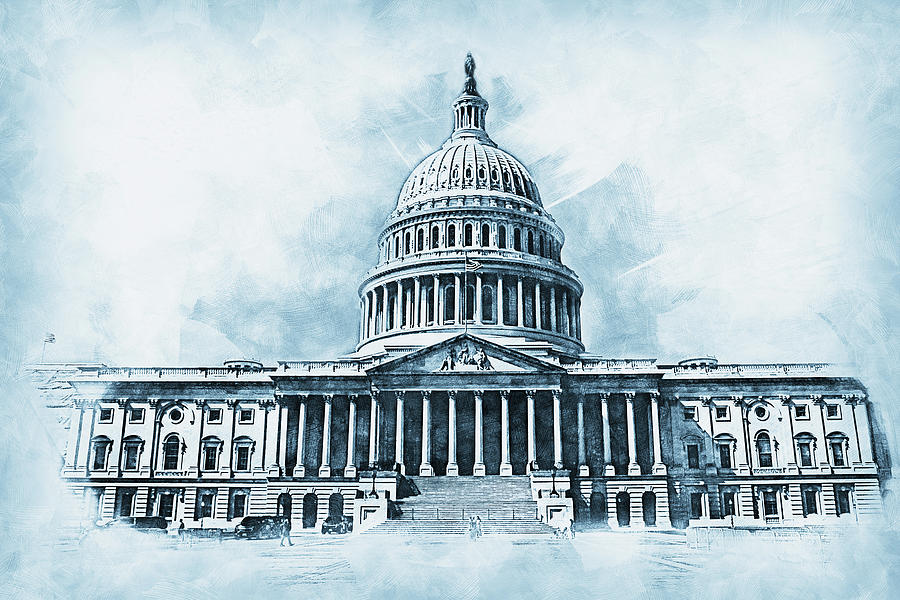 United States Capitol - 01 by AM FineArtPrints