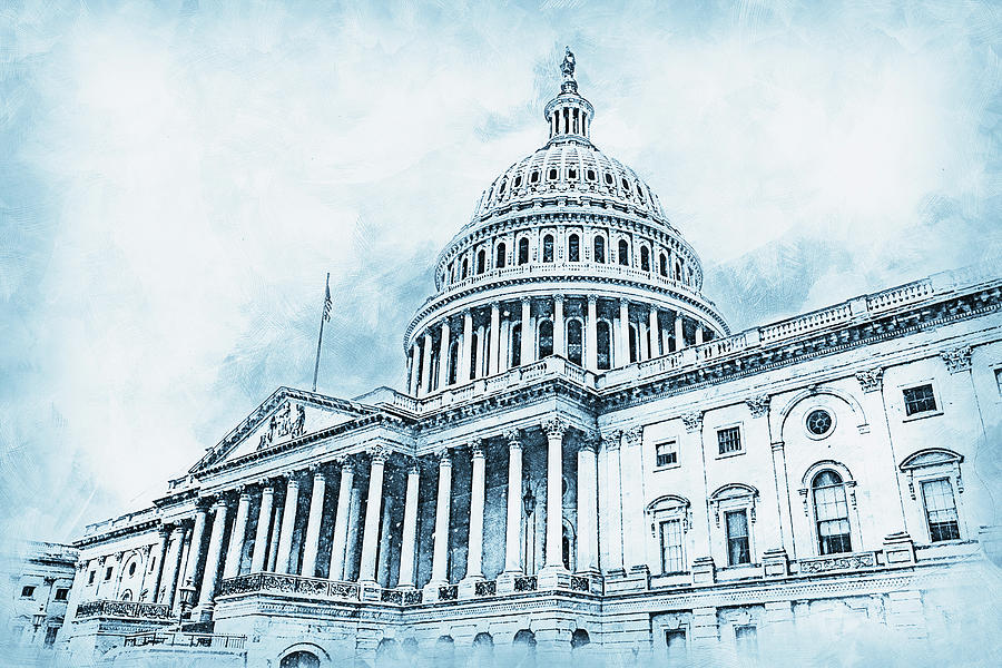 United States Capitol - 02 by AM FineArtPrints