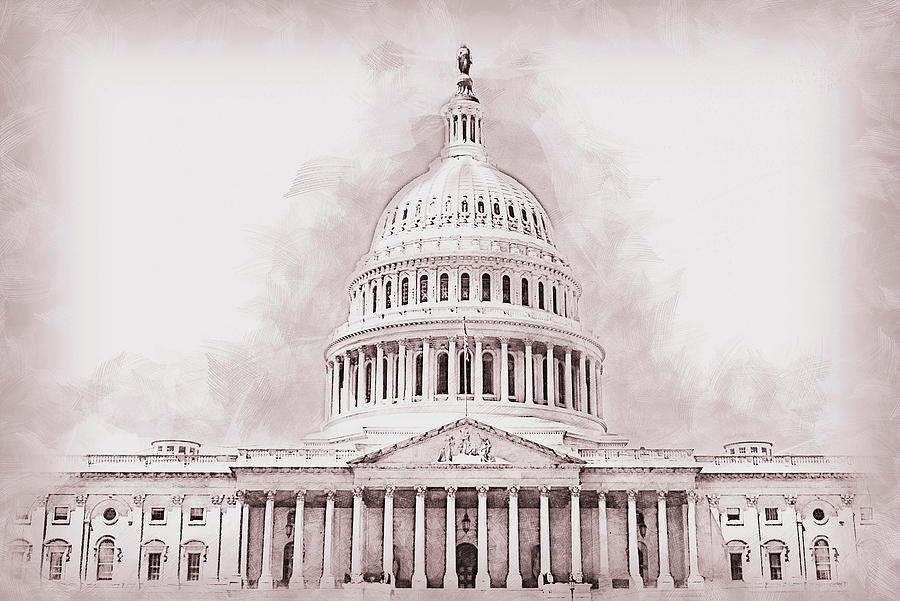 United States Capitol - 04 by AM FineArtPrints