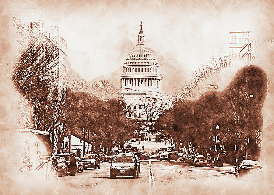 United States Capitol - 05 by AM FineArtPrints