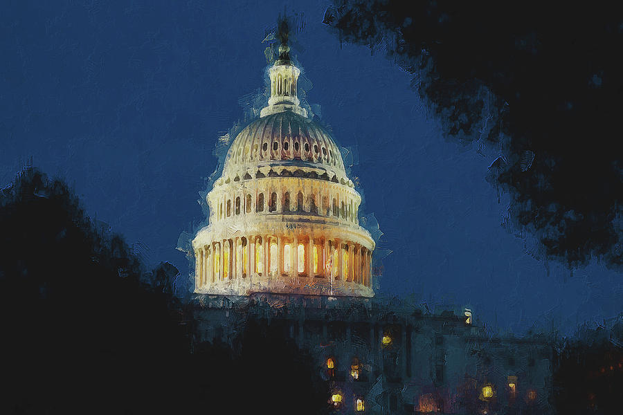 United States Capitol - 06 by AM FineArtPrints