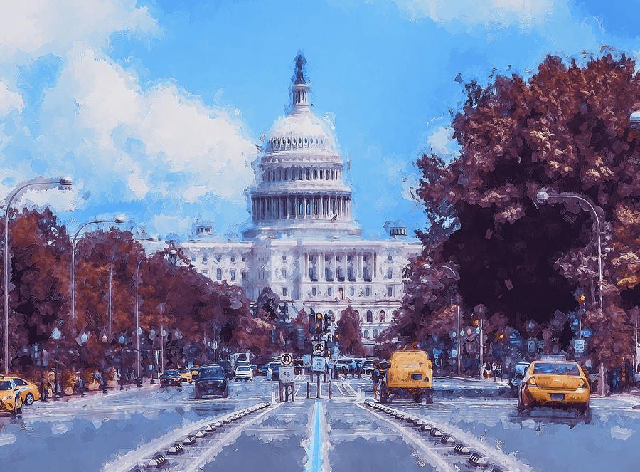 United States Capitol - 07 by AM FineArtPrints