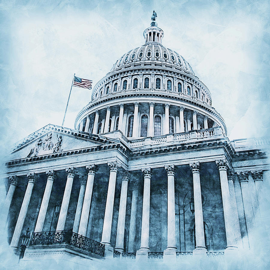 United States Capitol - 08 by AM FineArtPrints