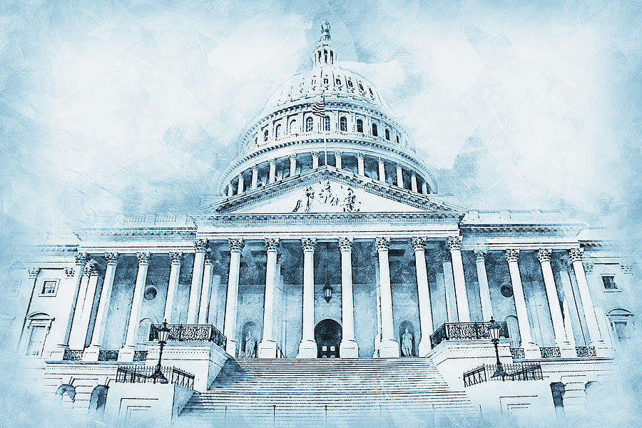 United States Capitol - 09 by AM FineArtPrints