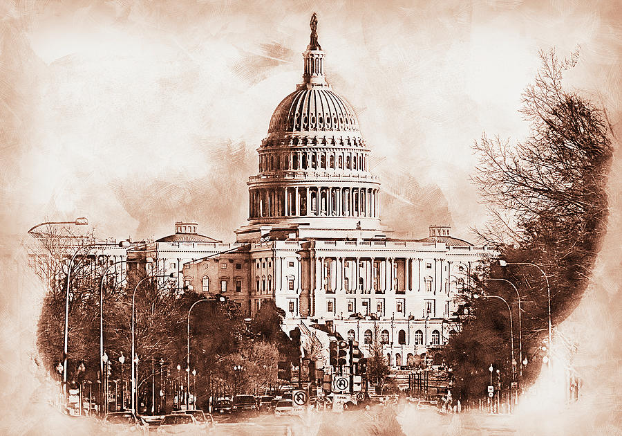 United States Capitol - 11 by AM FineArtPrints