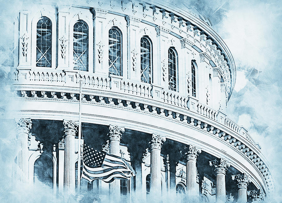 United States Capitol - 12 by AM FineArtPrints