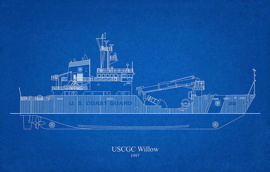 b02 - United States Coast Guard Cutter Willow wlb-202 by JESP Art and Decor